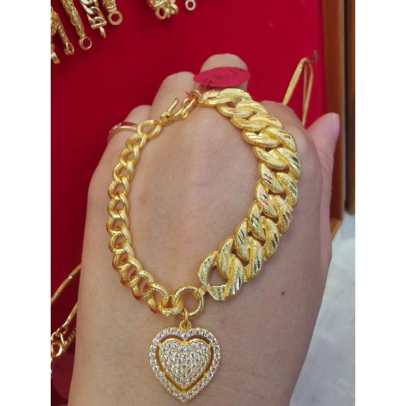 สร้อยมือทอง 96.5%  น้ำหนัก  1 บาท  15.16กรัม ยาว 15-16cm ราคา 30,100บาท