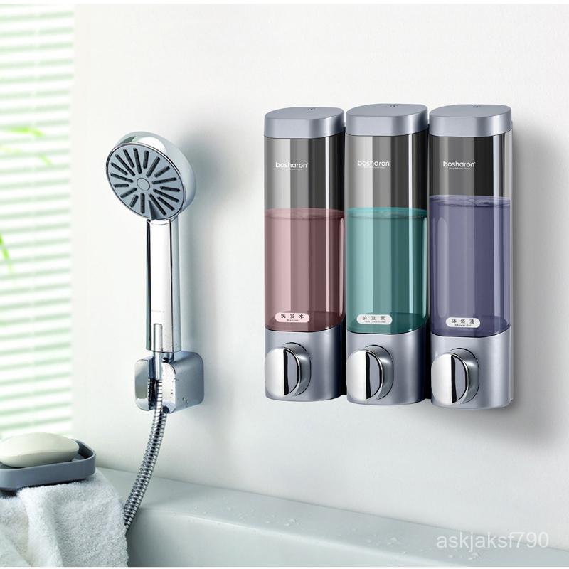 ที่กดน้ำยาล้างจาน★ฟรีหมัดสามตู้ทำสบู่ติดผนังโรงแรมโรงแรมห้องน้ำห้องน้ำแชมพูเจลอาบน้ำกล่องขวดบ้าน