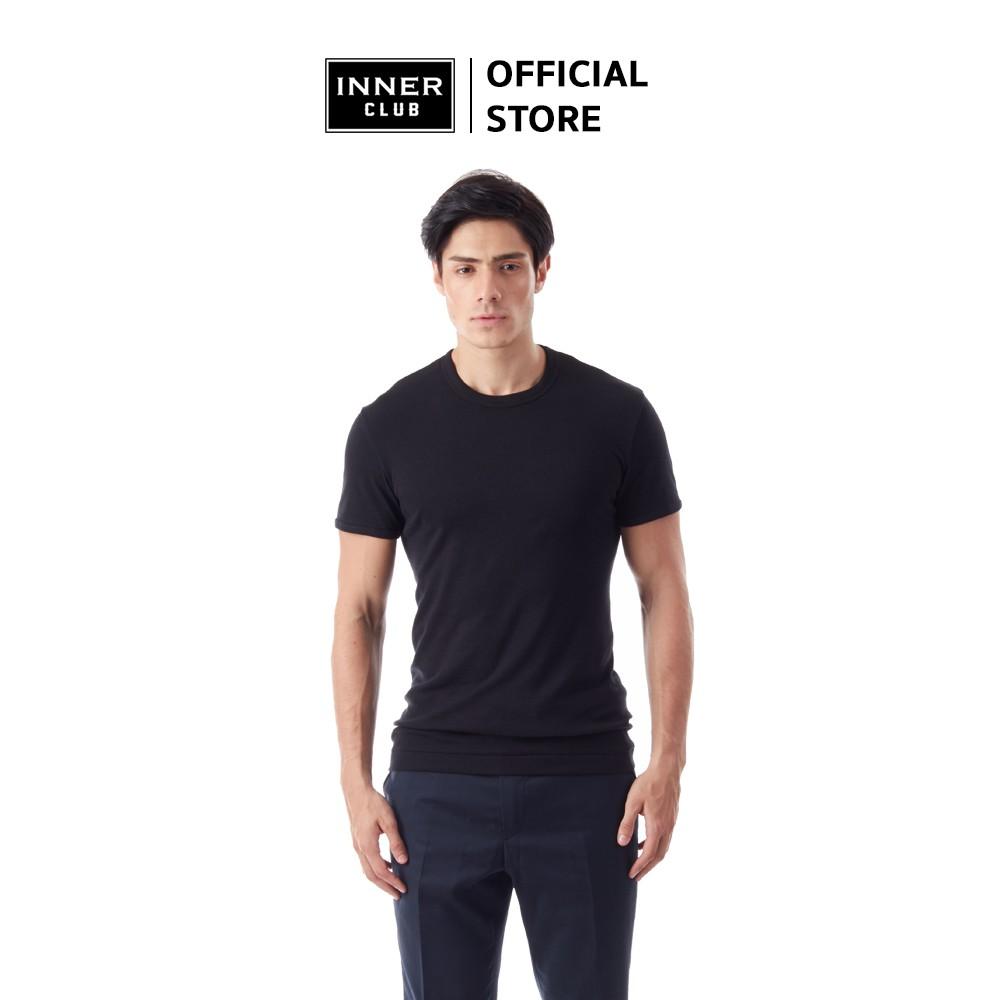 Inner Club เสื้อยืดคอกลม ผู้ชาย สีดำ (แพค 1 ตัว)