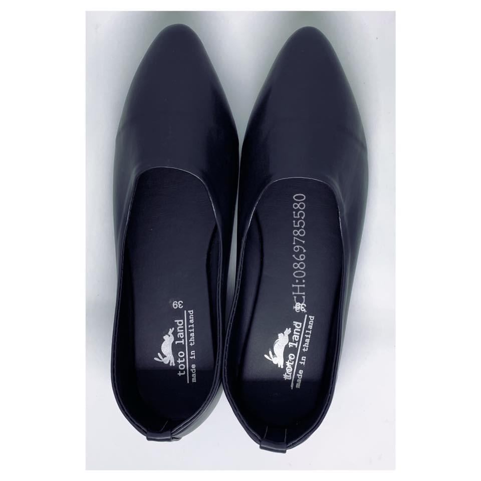 รองเท้าคัชชู รองเท้าหุ้มส้น สีดำ ผู้หญิง ส้นเตี้ย ใส่ทำงาน สบายๆๆ