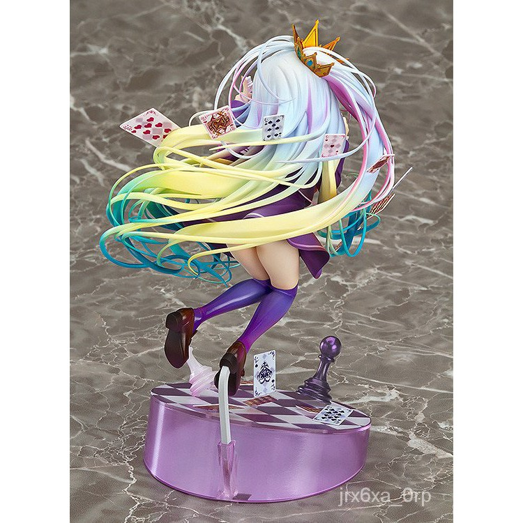 No Game No Life 3 1/8 ainted Figure Siro sexy Girl Shiro oker Chess Garage Kit Brinquedos Anime Action Figure Toys 20cm#