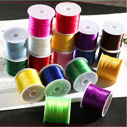 Elastic Stretch Cord String Crystal Clear Beading Thread 110 Yards 0.8mm