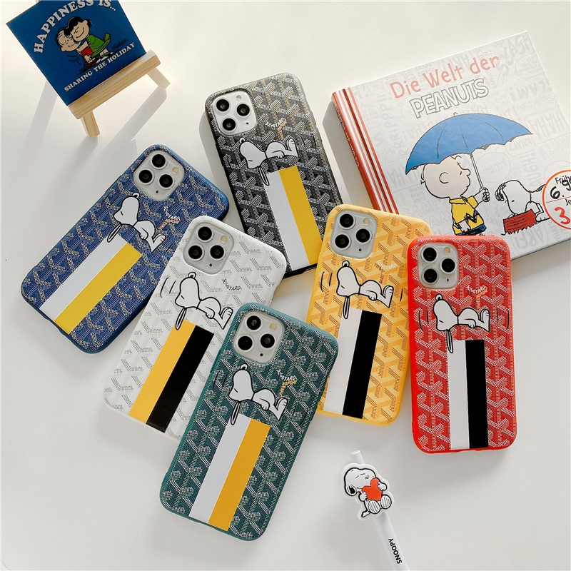 snoopy(2) GOYARD Trend fashion iphone case iphone hard cover soft or hard case Mobile phone case iphone 6 Plus 6S Plus 7Plus 8Plus X XR XS Max iphone 11 pro Max