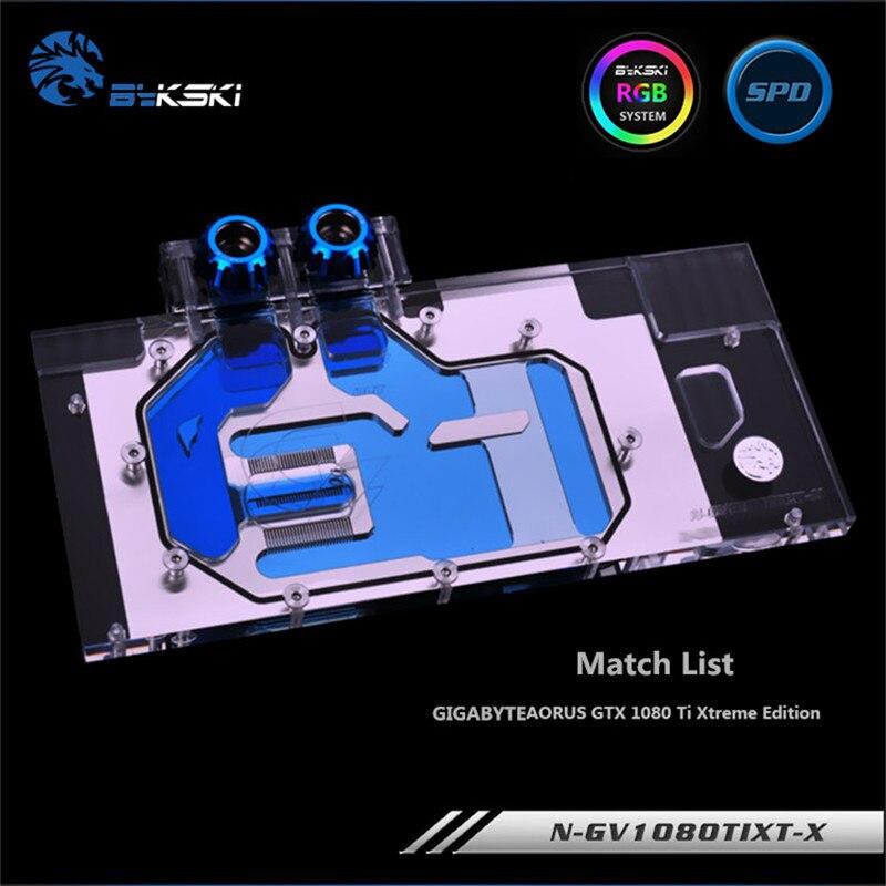Bykski แผ่นบล็อกแบบเต็มสําหรับ Gigabyte Aorus Gtx 1080 Ti Graphics Card N-gv1080tixt-x