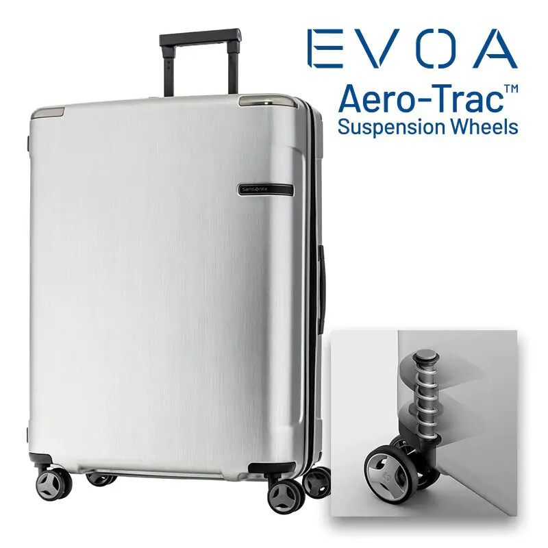SAMSONITE กระเป๋าเดินทาง รุ่น EVOA SPINNER 81/30 EXP ขนาด 30 นิ้ว สี BRUSHED SILVER