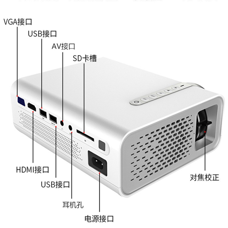 New YG520 home mini projector LED HD 1080P portable projector computer factory direct sales