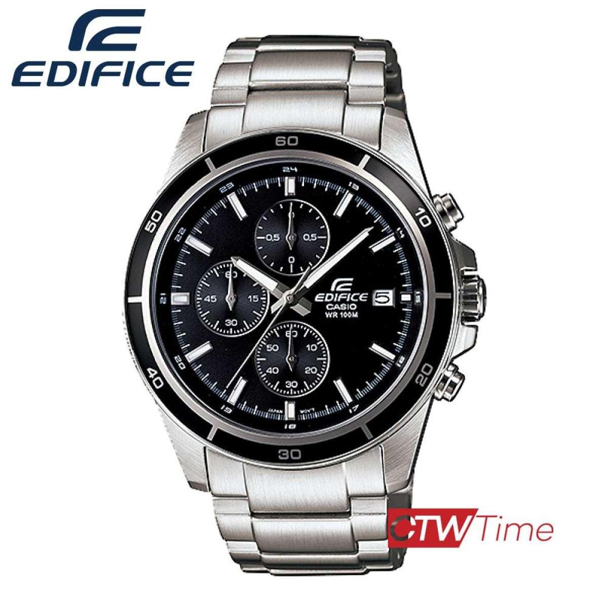ส่งฟรี !! Casio Edifice นาฬิกาข้อมือผู้ชาย สีเงิน สายสแตนเลส รุ่น EFR-526D-1AVUDF yMnV