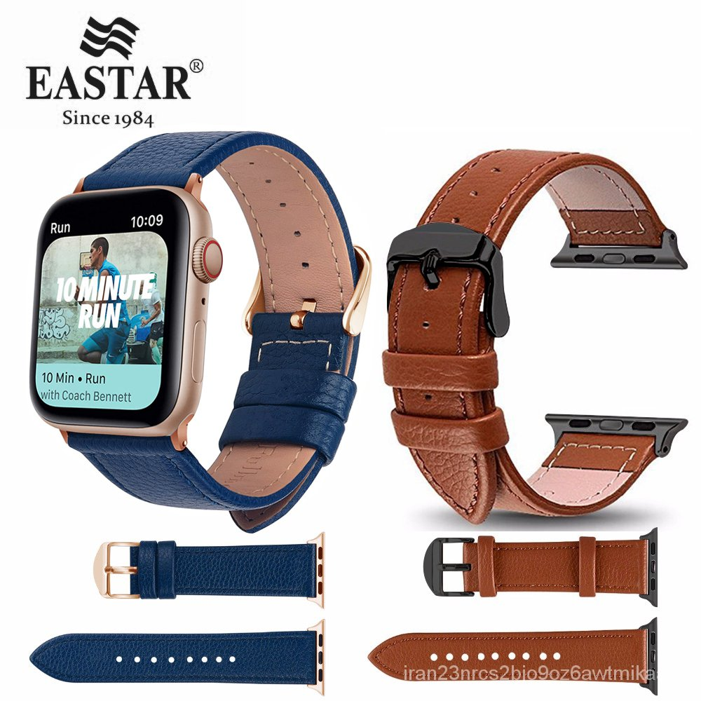 Eastar 3 Color Hot Sell Leather Watchband for Apple Watch Band Series 5/3 Sport Bracelet 42mm 38mm Strap For iwatch 6 4