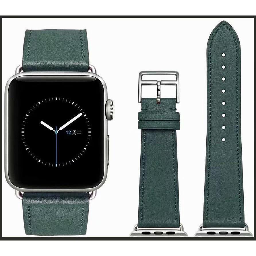 สาย applewatch สายนาฬิกา applewatch Apple Watch Strap นาฬิกาข้อมือสายหนังแท้  Apple watch series 6 se 5 4 3 2 1 iWatch 3