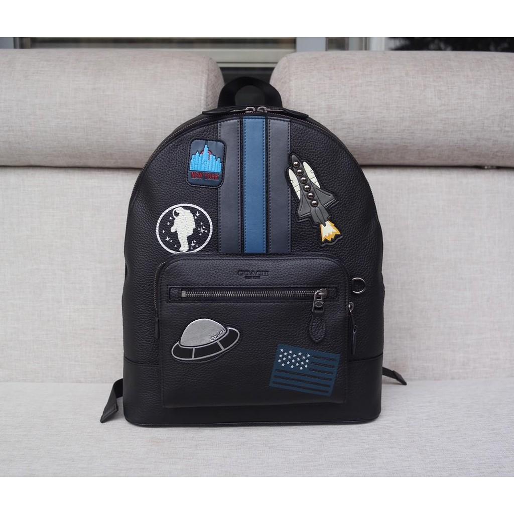 💯แท้Charlie กระเป๋าเป้สะพายหลังผ้าแคนวาส ( Coach F 28313 )