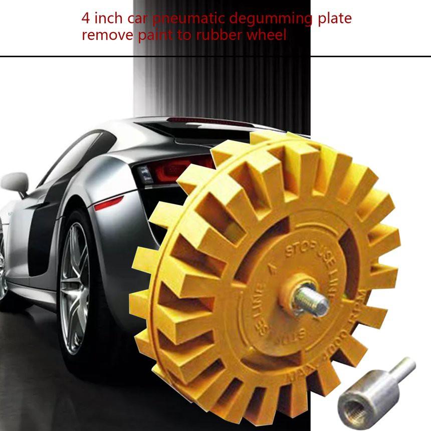 น ำยาเคล อบรถ 4 Inch Car Pneumatic Degumming Plate Paint Removal Rubber Wheel Thickness 25mm
