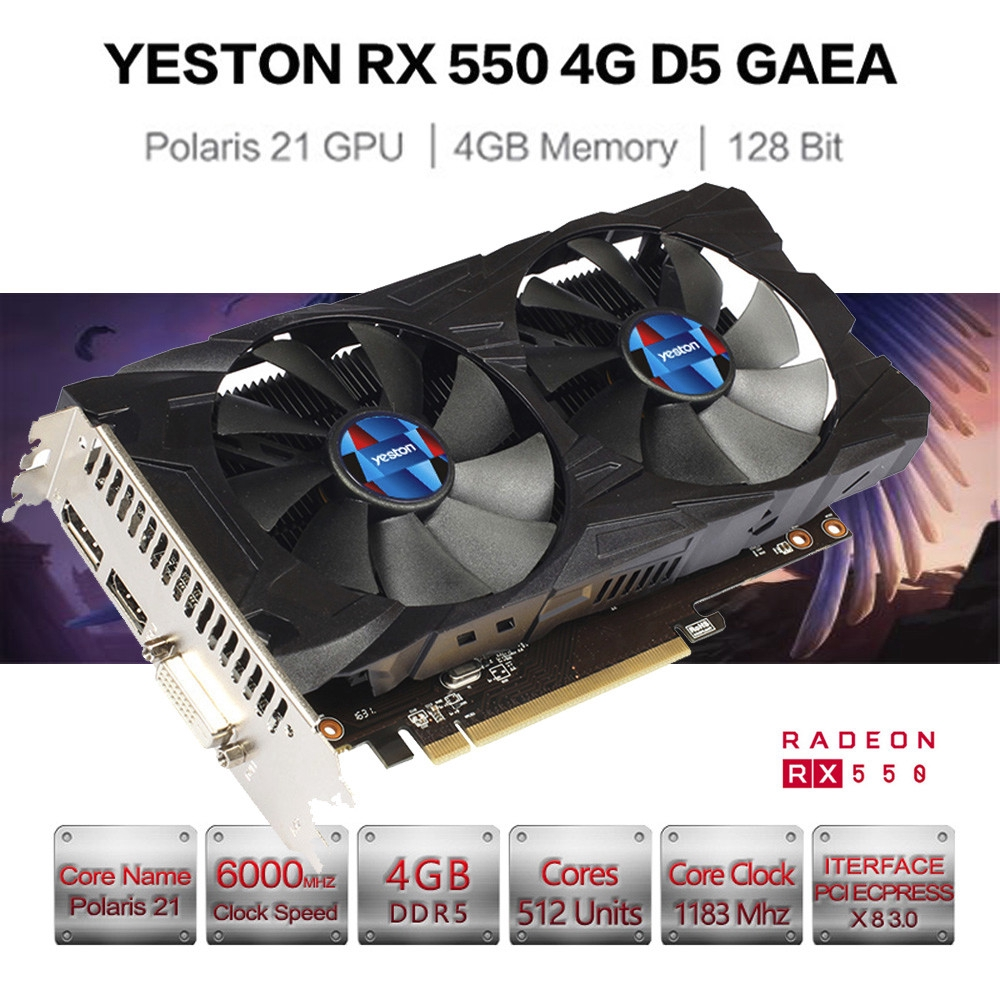 Graphics card 4G RX550 4Gb DDR5 NEW IN BOX