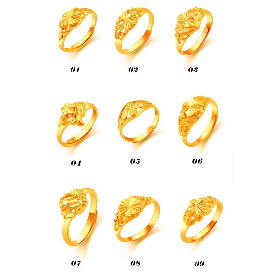 แหวนทองเคลือบ 10ลาย  แหวนทองเคลือบแก้ว ทองสวย แหวนทอง แหวนทองชุบ แหวนทองสวย แหวนหนัก ครึ่งสลึง