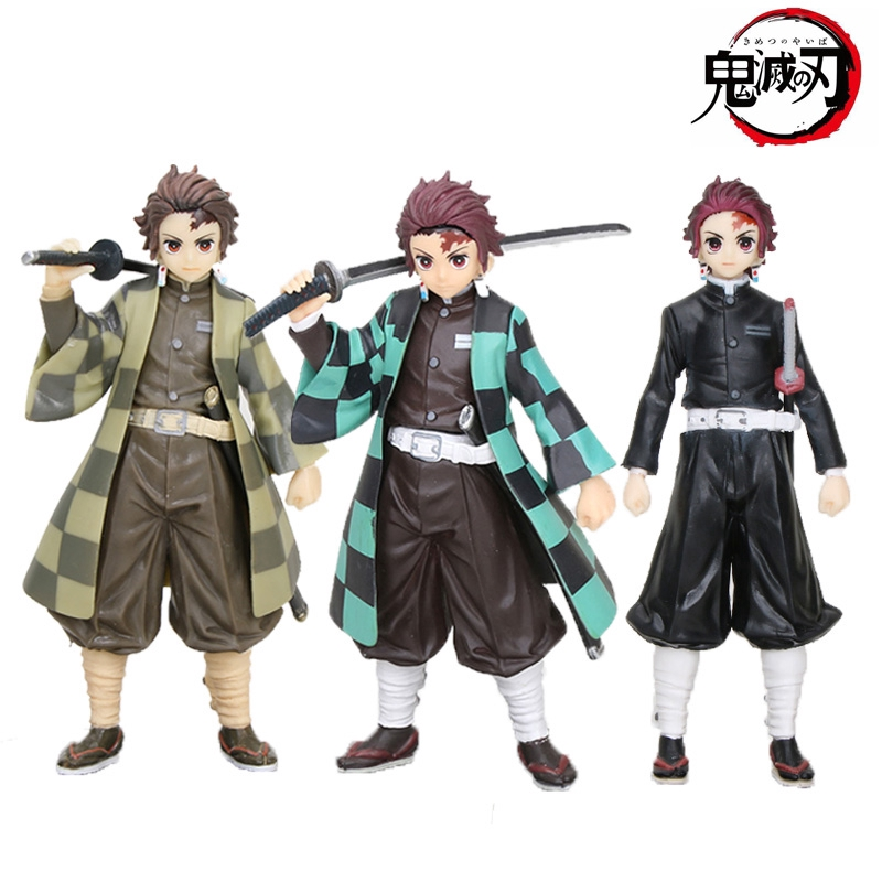 16cm 3style Anime Demon Slayer Kimetsu no Yaiba figure toy Demon Slayer Kamado Tanjirou Figure PVC Model