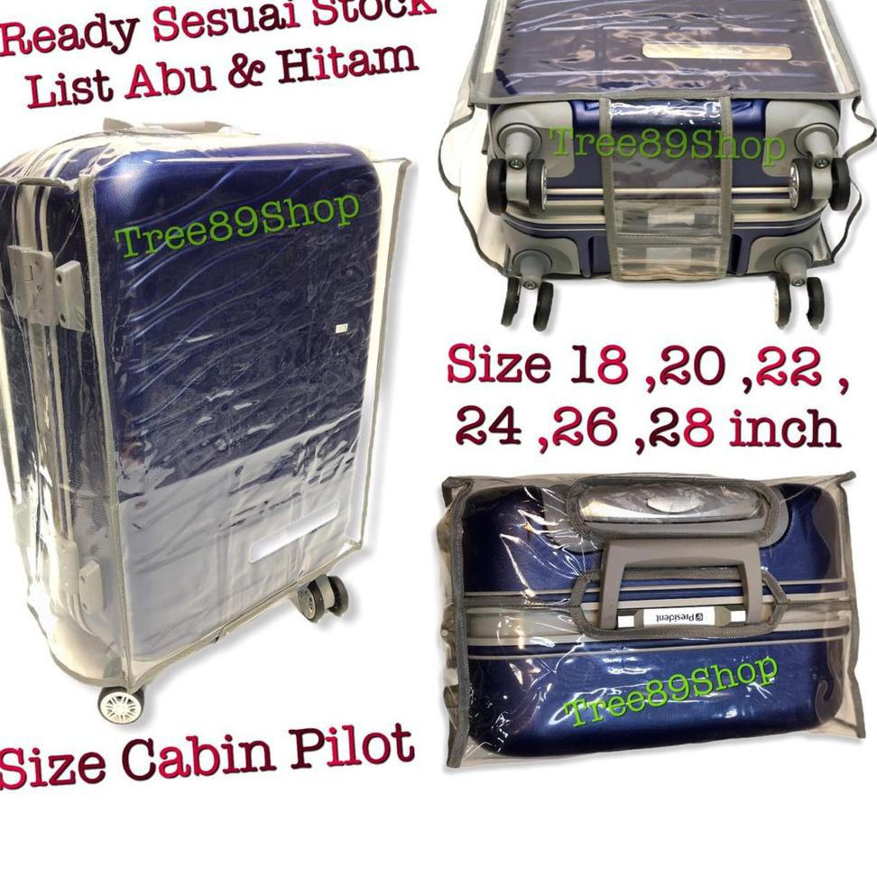 กระเป๋าเดินทาง / กระเป๋าเดินทาง / กระเป๋าเดินทาง / ใส Mica 20, 24, 28 นิ้ว - สีดํา