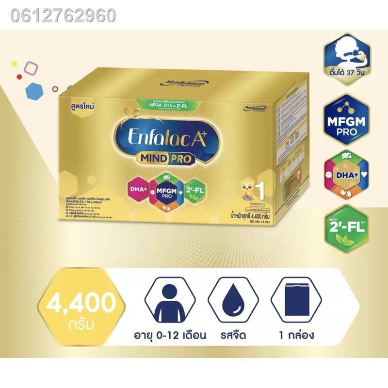 อุปกรณ☇[ขายยกลัง-2กล่อง] ใหม่ นมผงEnfalacA+1 เอนฟาแล็ค เอพลัส มายด์โปร ดีเอชเอ พลัส สูตร 1 4400 กรัม ขายยกลัง Enfalac