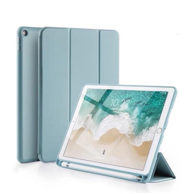 """เคส iPad มีรุ่น Gen 7 (10.2"""") สีพาสเทลฟ้าและเหลือง 🌵แบบ 3 ทบมีที่ใส่ apple pencil"""