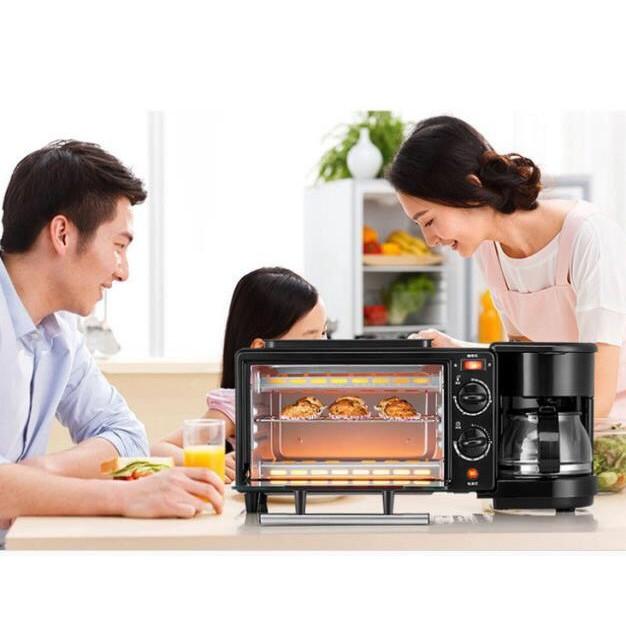 เตาอบ เตาอบขนม ไมโคเวฟ ตาอบไฟฟ้า 3 in 1  เตาอบตั้งโต๊ะ เตาอบ เครื่องทำกาแฟ กระทะทอด อเนกประสงค์ **พร้อมส่ง**