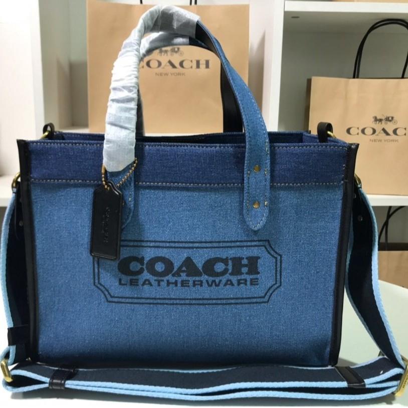 coach กระเป๋าถือผ้า ขนาดเล็ก