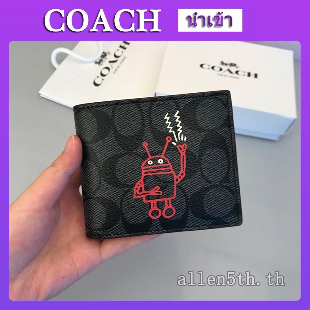 กระเป๋าสตางค์ Coach แท้ F11945 กระเป๋าสตางค์ผู้ชาย / กระเป๋าเงิน / กระเป๋าตัง / กระเป๋าสตางค์ใบสั้น / กระเป๋าสตางค์หนัง