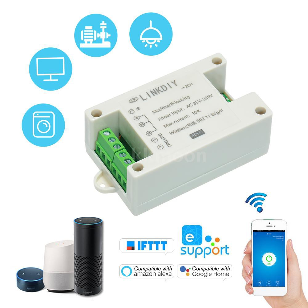 eWeLink Smart Wifi Switch Universal Module 2CH AC85-250V Wireless Switch  Timer Phone APP Remote Control Compatible with