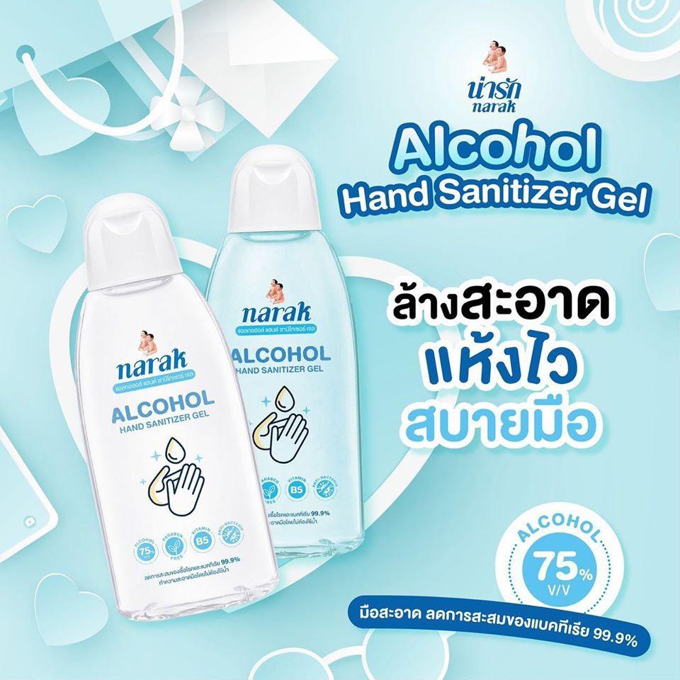 เจลล้างมือเด็ก น่ารัก narak  เจลล้างมือAlc75%แบบไม่ต้องล้างออก ขนาดเล็กพกพาง่ายปริมาณ ขนาด45 มล.