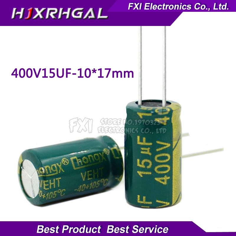 10PCS 400V15UF 10x17 15UF 400V 10*17 Electrolytic capacitor New original