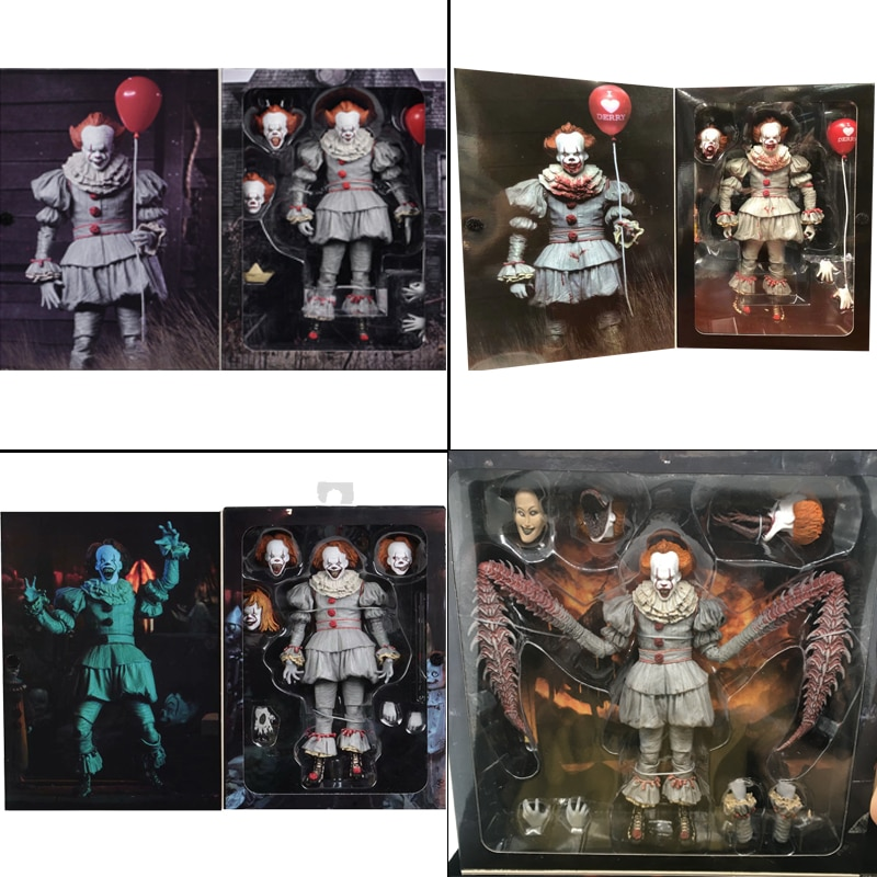 NECA It Pennywise Figure Joker Figure Pennywise Action Figures Neca Toy Doll Horror Halloween Gift 7inch 18cm