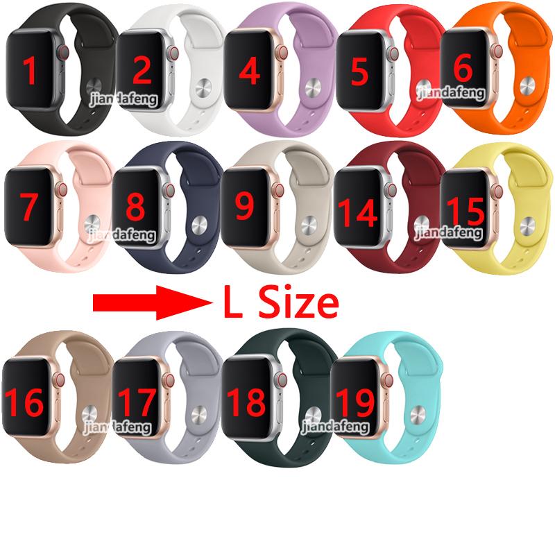 สายยางซิลิโคนสายแบบ Sport Band สำหรับ Apple Watch Series 5 4 3 2 38 / 42mm 40 / 44mm iwatch