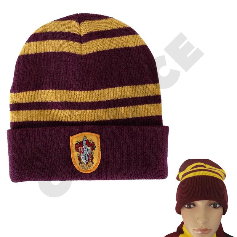 NEWHarry Potter Gryffindor Knit Beanie Hat Cap and Scarf Deathly Hallows Costume