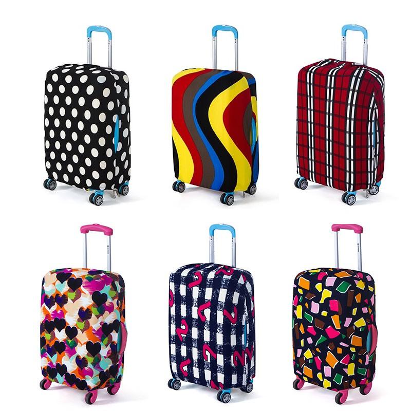  ยืดหยุ่น ป้องกันฝุ่น 【น่ารัก/แฟชั่น】 ผ้าหนา ผ้าคลุมกระเป๋าเดินทาง หนาพิเศษ 18-32นิ้ว อุปกรณ์เสริมกระเป๋