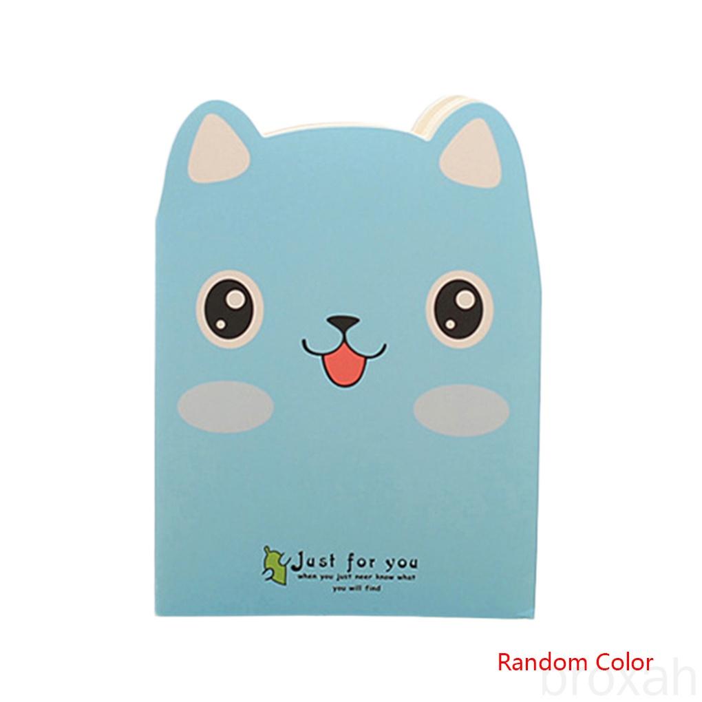 Cartoon Animals Carrying Notes Small Books Daily Notebook Mini Notepad Students Diary Book Random Color broxah
