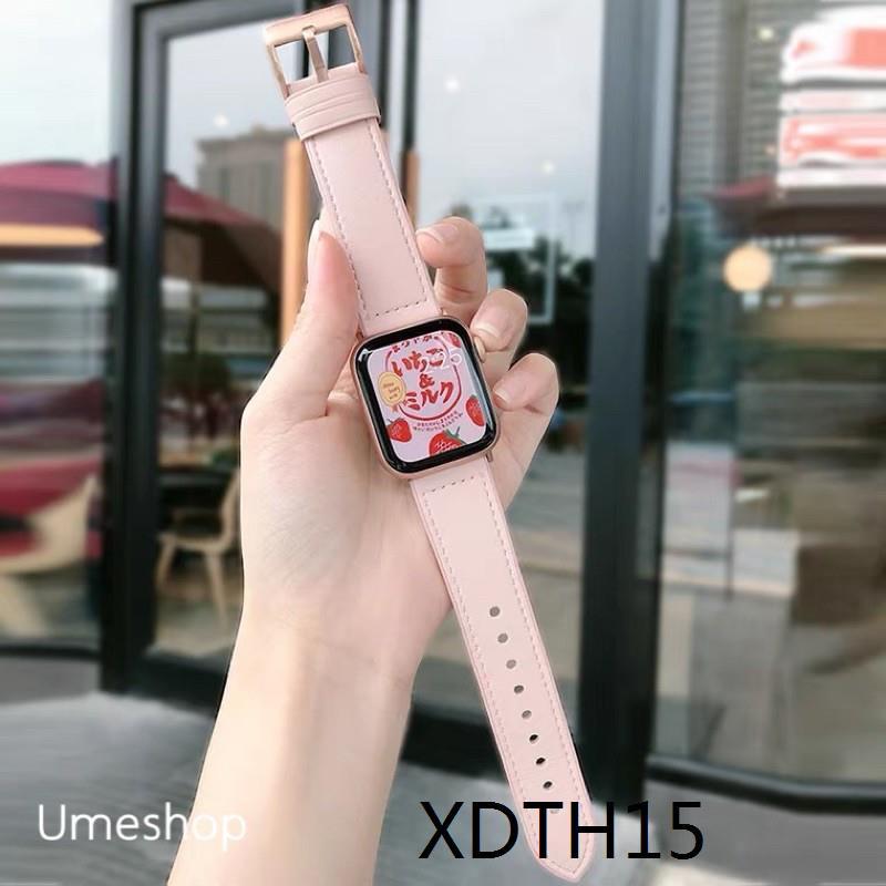 สายนาฬิกา สายสำหรับ AppleWatch แบบ หนัง  38/40, 42/44 mm. Series 6 /5/4/3/2/1 series SE สายหนังแบบใหม่!!!