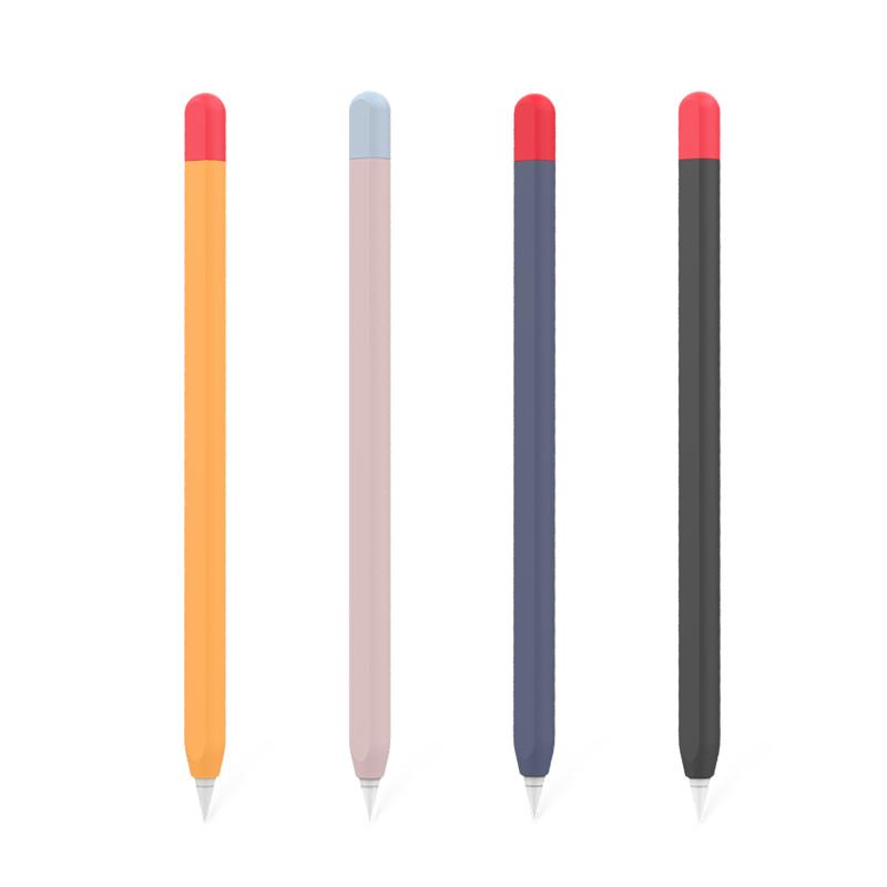 ปากกา CapacitiveAppleปากกา Applepencilปากกาpencil2รุ่นบางเฉียบรุ่นลื่นป้องกันการสูญหายซิลิโคนหมวกipadปากกา capacitivepro