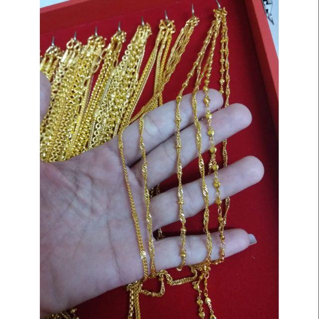 สร้อยคอหนัก2สลึงราคา350บาท งานเหมือนทองแท้99%