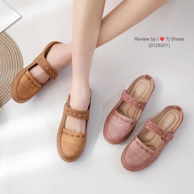*เช็คของก่อนกดสั่ง* รองเท้าคัชชูเปิดส้นเพื่อสุขภาพ 0129201