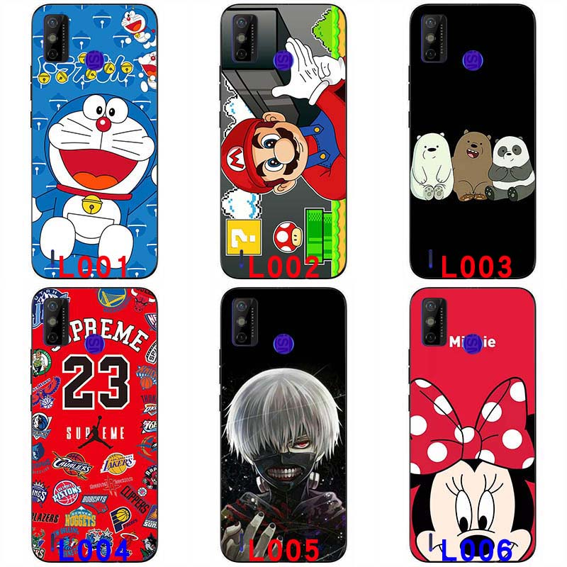 Soft silicone painted print case soft TPU Back cover Anime Protective shell soft casing For Tecno Spark 6 GO 6.52 '' Colorful Cartoon Pattern handphone case