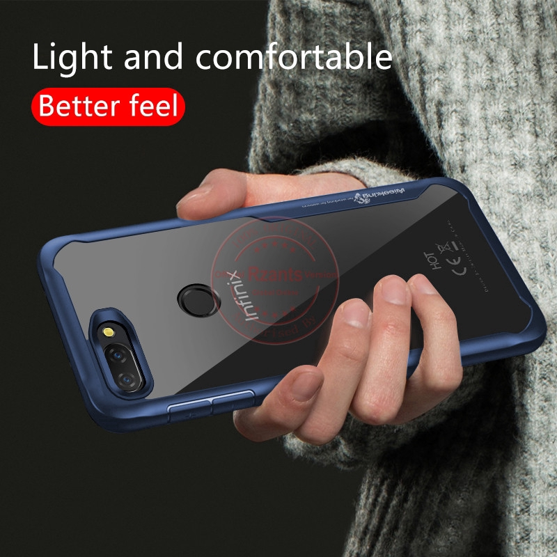 Infinix Hot 6 Pro(X608) เคส Case เคสโทรศัพท์ Clear Back +TPU Edge  ShockProof Slim Thin เคสมือถือ Cover