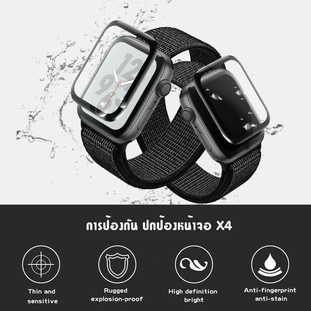 🌻💋📣❡[ส่งเร็ว สต๊อกไทย] ฟิล์มกันรอย Apple watch 3D PMMA Series 6 SE 5 4 ฟิล์ม หน้าจอ Screen Protector Applewatch