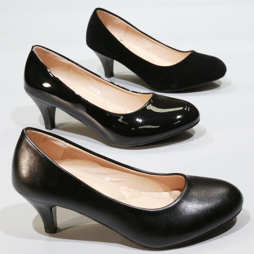 รองเท้าผู้หญิง รองเท้าผู้หญิงไซส์ใหญ่ รองเท้า140-1,1A,1B,C1,C1A,C1B รองเท้าคัชชูนักศึกษา รองเท้าส้นสูง รองเท้าคัชชูสีดำ