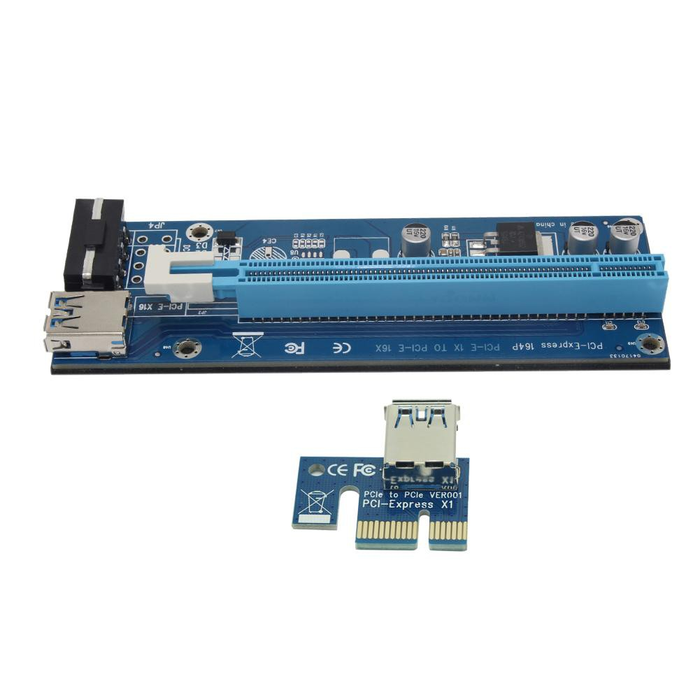 High Speed USB3.0 Port PCIe PCI Express 1x Extender Riser Card Adapter Mining