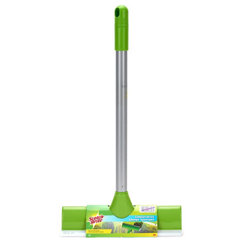 """ไม้รีดน้ำ ไม้กวาดน้ำ 3M แปรงเช็ดกระจก 9"""" แปรงยางและฟองน้ำเช็ดกระจก Mirror Brush ปาดน้ำและซับน้ำได้ในตั ล้างรถ ม็อบถูพื้น"""