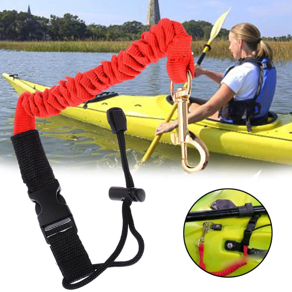 sit on top canoe angler fishing rod holder. Coiled Kayak Paddle Leash