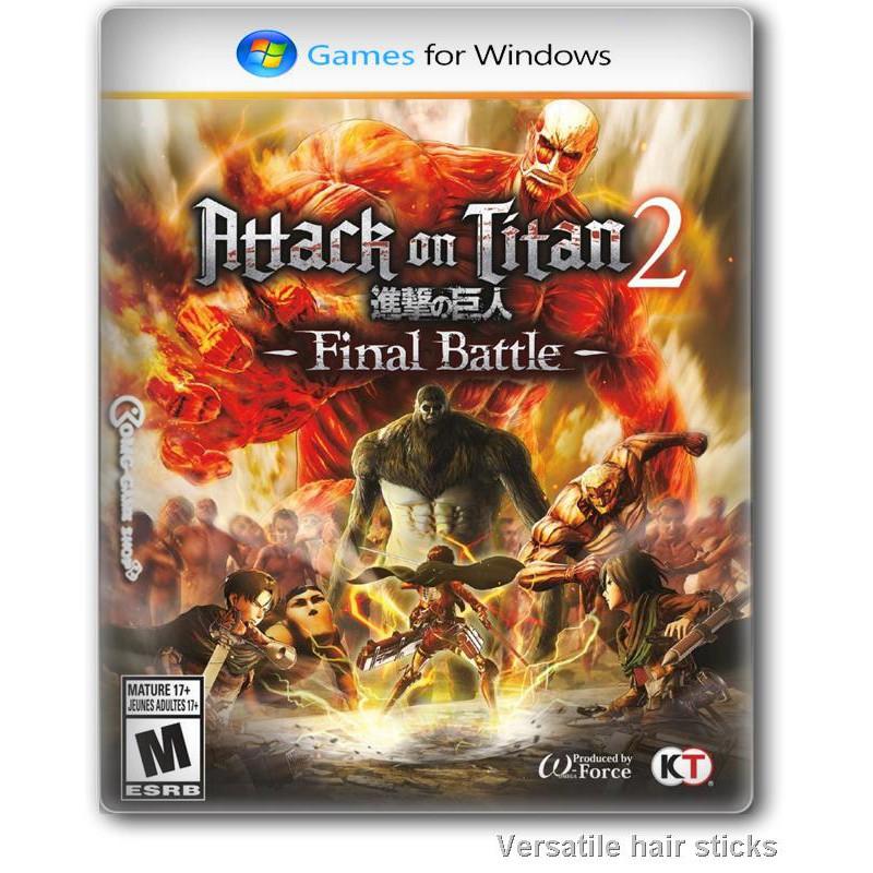 😊อุปกรณ์เสริมเกม😊แท่นชาร์จ wirelessแผ่นเกมส์ PC Game - Attack on Titan 2