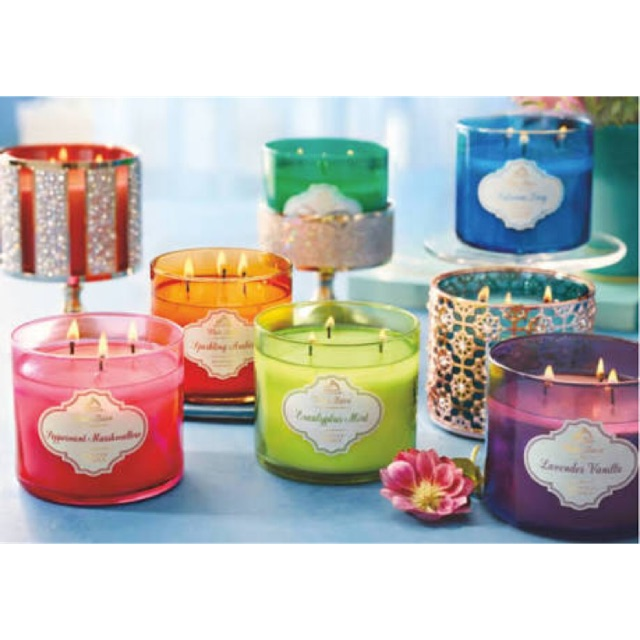 (พร้อมส่ง) Bath and Body Work : 3 wick Candle เทียน 3 หัว Paris Cafe / Eucalyptus / Vanilla Birch / Mahogany Teakwood