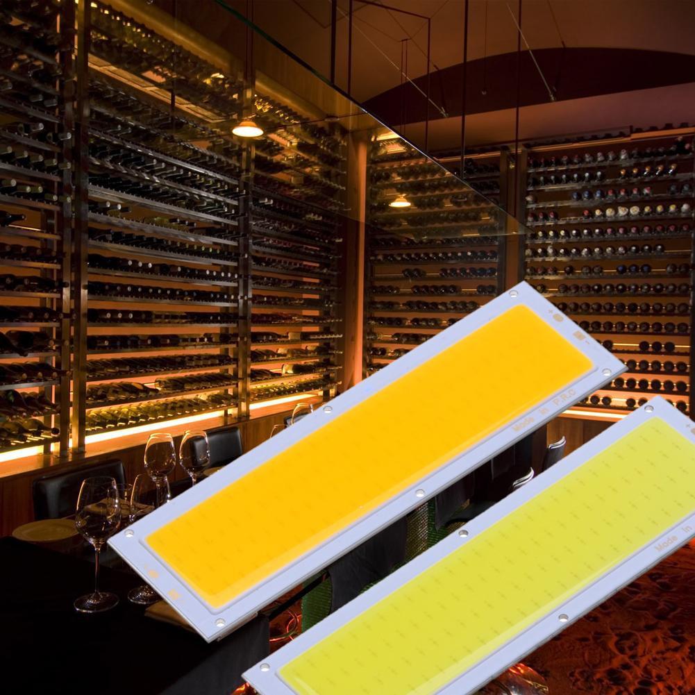 12 V 10 W COB แผงไฟ LED หลอดไฟ 120 x 36 มม. สีขาว / ขาว