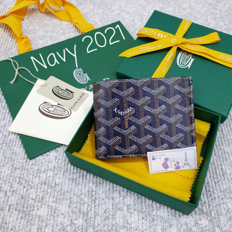 Goyard Men Wallet Victoire 8 cards In Navy กระเป๋าสตางต์ สีน้ำเงิน 💕2021💕 ของแท้
