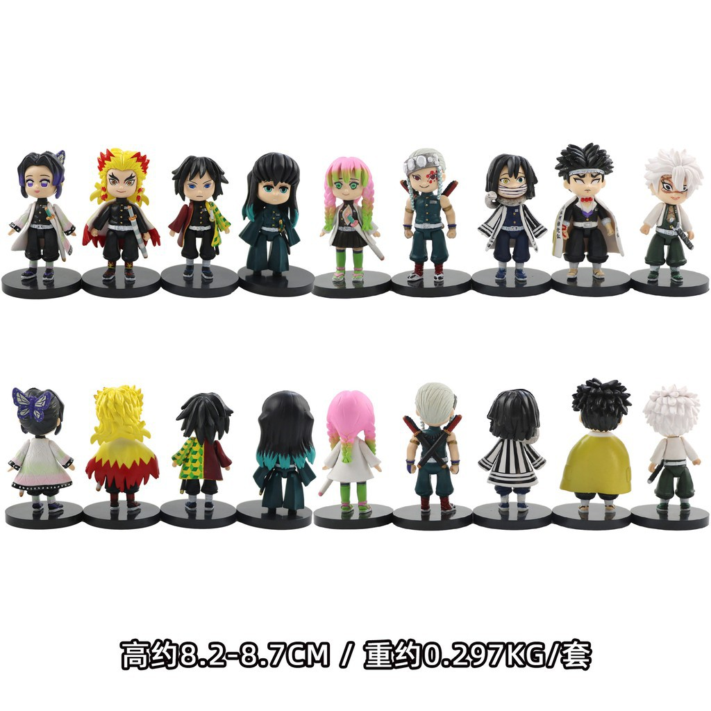 ❀✁9CM 2021NEW 9pcs / a set Demon Slayer Action Figure มือและเท้าที่สามารถเคลื่อนย้ายได้ Anime Toy Garage Kit Tanjirou K