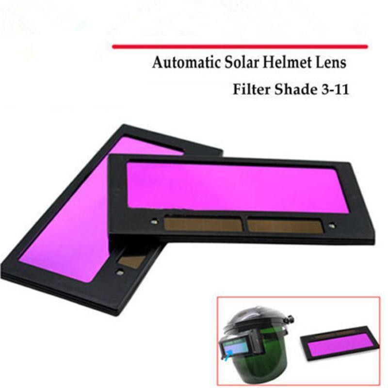 Solar Powered Auto Dimming Shading Lens Mask Welding Filter Replace Part