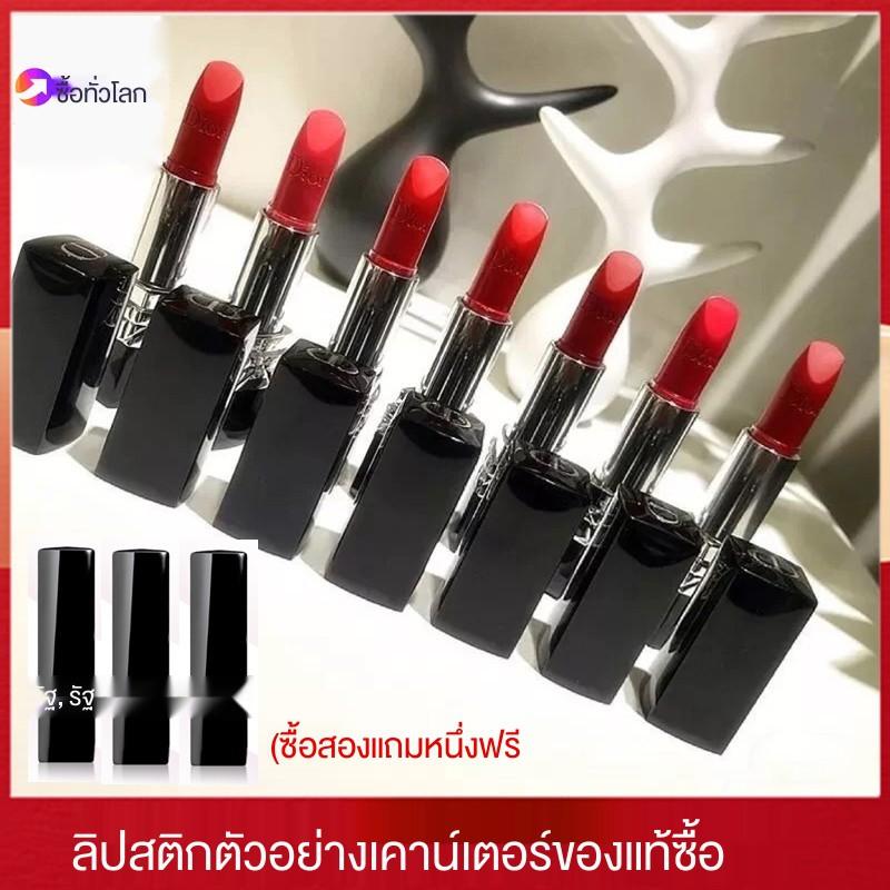 แมส✽Dior / lipstick sample counter ของแท้หลอดดำ 999 888 moisturizing matte 1.4g mini ทดลองลิปสติก